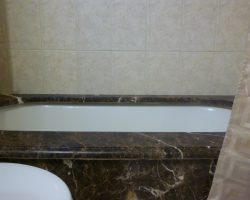 Dark Emperador Marble Bathtub Surround