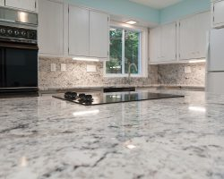 Delicatus White Granite Kitchen Island Top