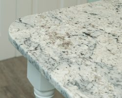 Delicatus White Granite Kitchen Island