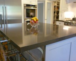 Shadow Grey Q-Quartz Kitchen Island