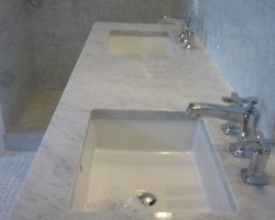 White Carrara Bathroom Remodel
